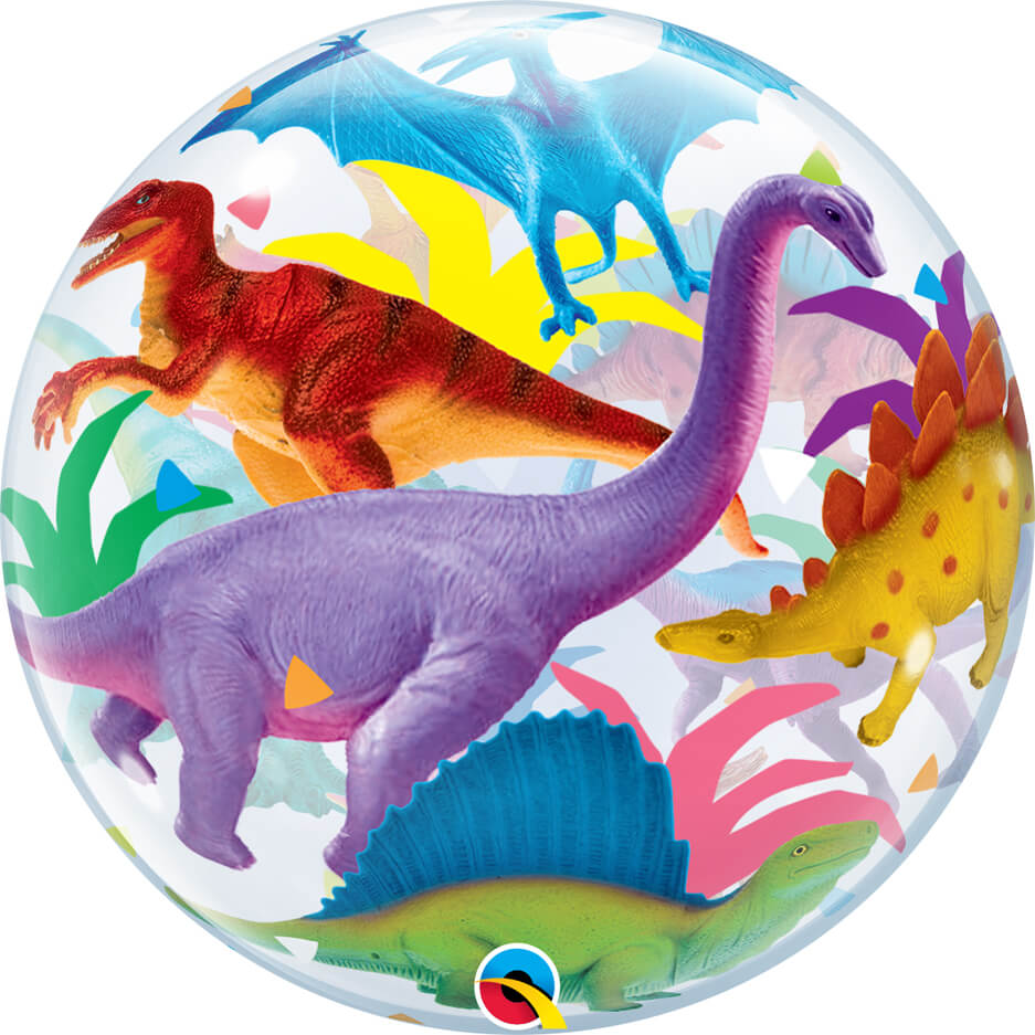 "22"" / 56cm Colorful Dinosaurs Qualatex #13088"