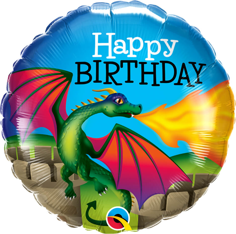 18″ / 46cm Birthday Mythical Dragon Qualatex #13314