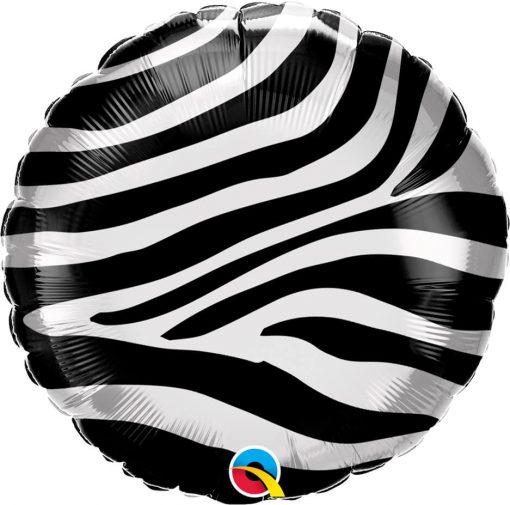 "18"" / 46cm Zebra Stripes Pattern Qualatex #13354"