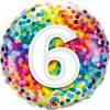 "18"" / 46cm 6 Rainbow Confetti Qualatex #13493"