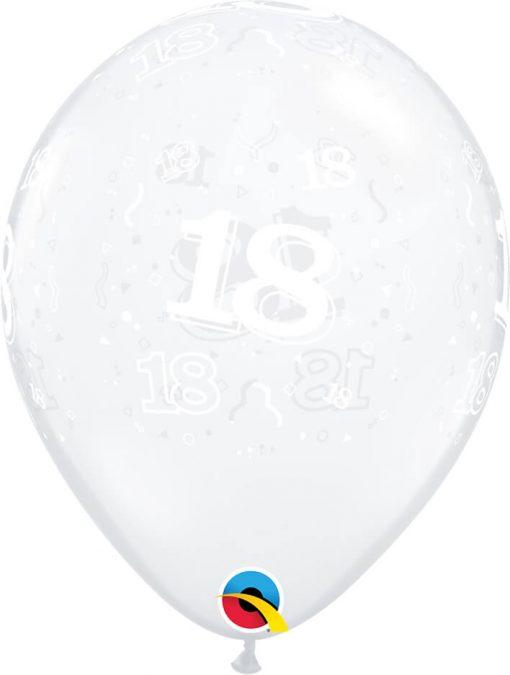"11"" / 28cm 18-A-Round Diamond Clear Qualatex #13507-1"