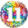 "18"" / 46cm 11 Rainbow Confetti Qualatex #13518"