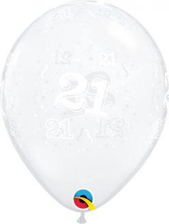 "11"" / 28cm 21-A-Round Diamond Clear Qualatex #13519-1"