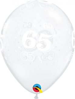 "11"" / 28cm 65-A-Round Diamond Clear Qualatex #13874-1"