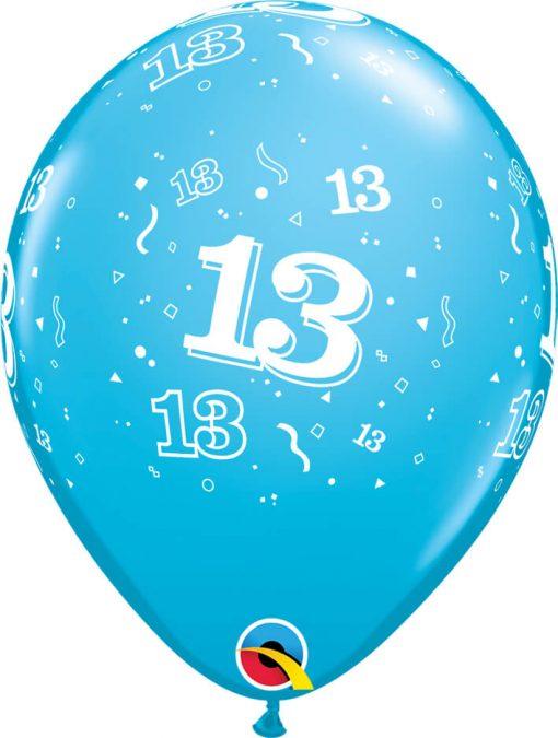 """11"""" / 28cm 6szt 13-A-Round Retail Asst Qualatex #17851"""