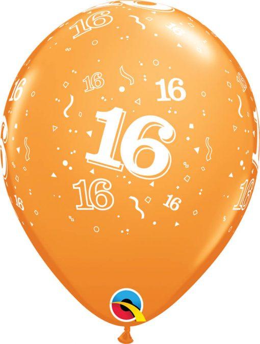 """11"""" / 28cm 6szt 16-A-Round Retail Asst Qualatex #17855"""