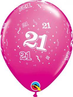 """11"""" / 28cm 6szt 21-A-Round Retail Asst Qualatex #17889"""