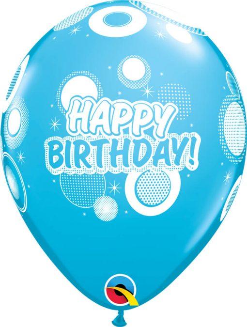 "11"" / 28cm 6szt Birthday Dots & Glitz Retail Asst Qualatex #17927"
