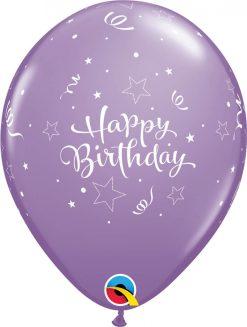 "11"" / 28cm 6szt Birthday Shining Star Retail Asst Qualatex #17935"