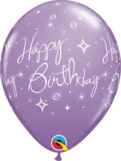 "11"" / 28cm Birthday Elegant Sparkles & Swirls Sorbet Assortment Qualatex #19166-1"