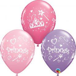 "11"" / 28cm Princess Asst of Pink, Spring Lilac, Rose Qualatex #20276-1"