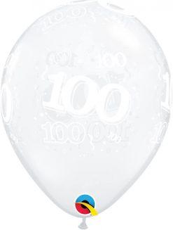 "11"" / 28cm 100-A-Round Diamond Clear Qualatex #24396-1"