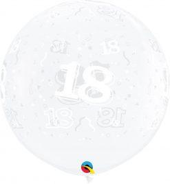 3' / 91cm 18-A-Round Diamond Clear Qualatex #28147-1