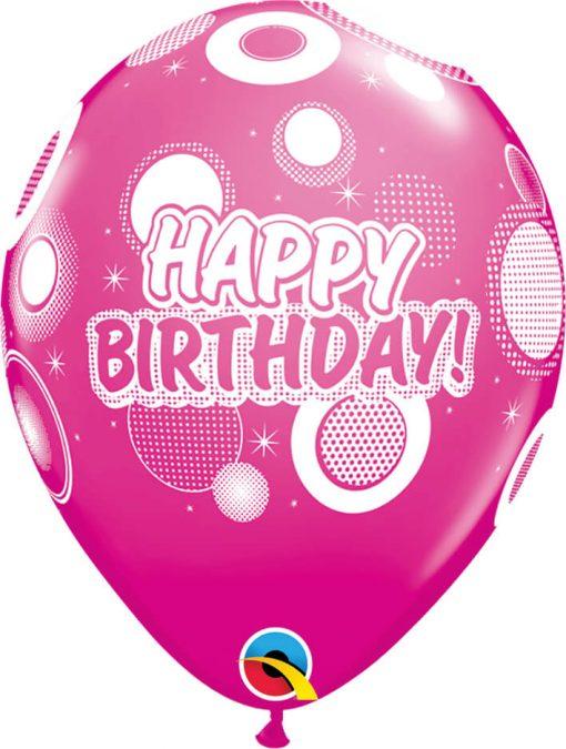 "11"" / 28cm Birthday Dots & Glitz Tropical Assortment Qualatex #36987-1"