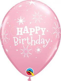 "11"" / 28cm Birthday Sparkle Asst of Wild Berry, Pink Qualatex #38856-1"