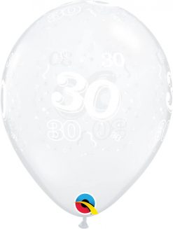 "11"" / 28cm 30-A-Round Diamond Clear Qualatex #40389-1"