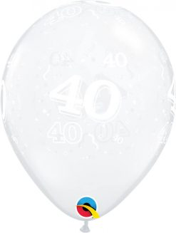 "11"" / 28cm 40-A-Round Diamond Clear Qualatex #40390-1"