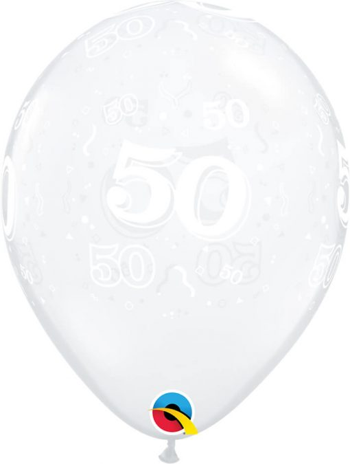 "11"" / 28cm 50-A-Round Diamond Clear Qualatex #40391-1"
