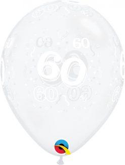 "11"" / 28cm 60-A-Round Diamond Clear Qualatex #40392-1"