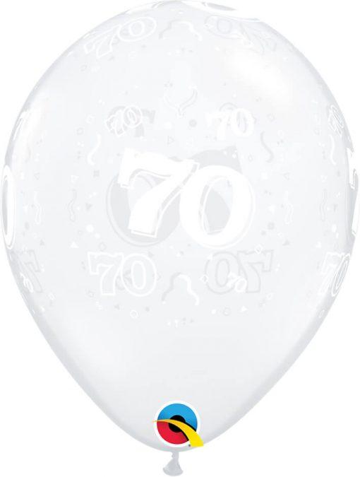 "11"" / 28cm 70-A-Round Diamond Clear Qualatex #40393-1"