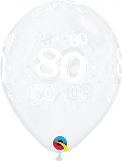 "11"" / 28cm 80-A-Round Diamond Clear Qualatex #40394-1"