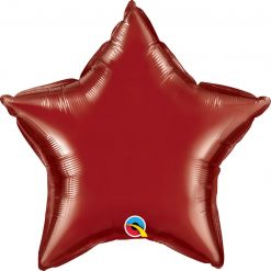 "20"" / 51cm Solid Colour Star Burgundy Qualatex #41533"