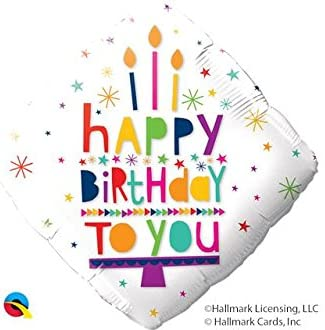 18″ / 46cm Happy Birthday To You Candles Qualatex #78666