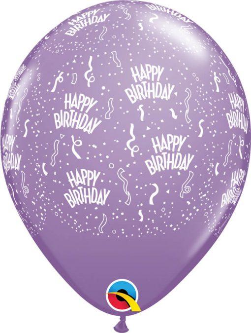 "11"" / 28cm 6szt Birthday-A-Round Retail Assortment Qualatex #43010"