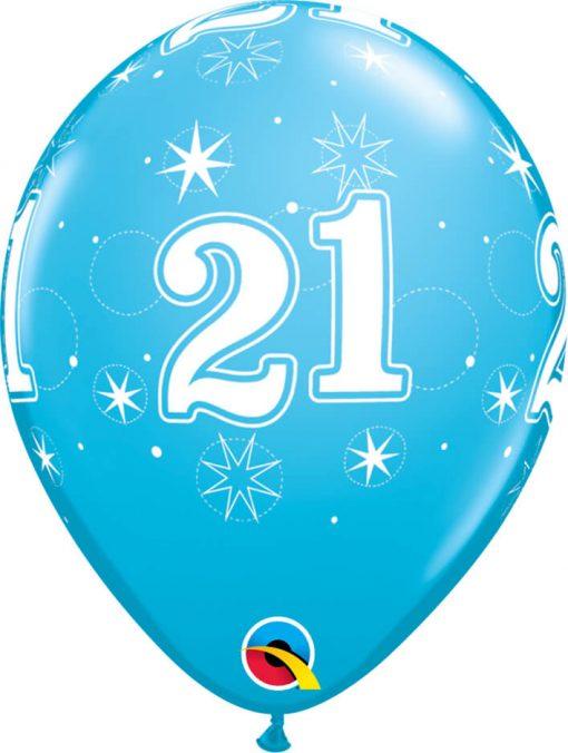 "11"" / 28cm 21 Sparkle-A-Round Robin's Egg Blue Qualatex #44921-1"