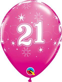 "11"" / 28cm 21 Sparkle-A-Round Wild Berry Qualatex #44922-1"