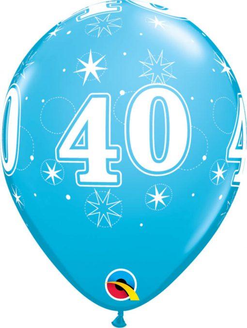 "11"" / 28cm 40 Sparkle-A-Round Robin's Egg Blue Qualatex #44925-1"