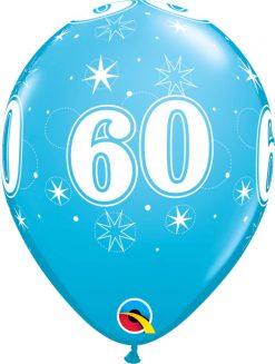 "11"" / 28cm 60 Sparkle-A-Round Robin's Egg Blue Qualatex #44938-1"