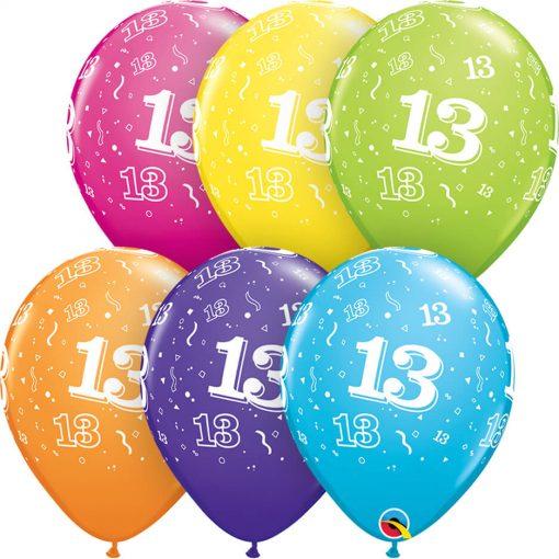 """11"""" / 28cm 13-A-Round Tropical Assortment Qualatex #45349-1"""