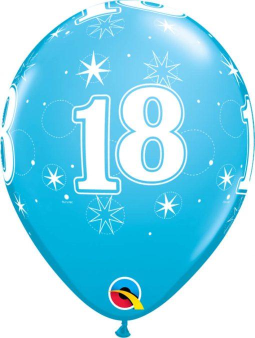 "11"" / 28cm 18 Sparkle-A-Round Robin's Egg Blue Qualatex #45683-1"