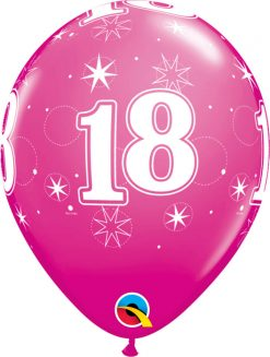 "11"" / 28cm 18 Sparkle-A-Round Wild Berry Qualatex #45686-1"