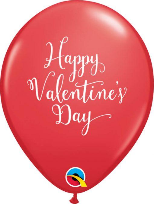 "11"" / 28cm Happy Valentine's Day Script Red Qualatex #48206-1"