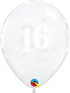 "11"" / 28cm 16 Sparkle-A-Round Diamond Clear Qualatex #50181-1"