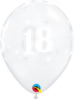 "11"" / 28cm 18 Sparkle-A-Round Diamond Clear Qualatex #50182-1"