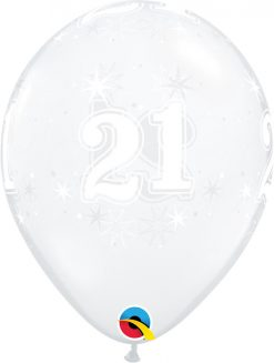 "11"" / 28cm 21 Sparkle-A-Round Diamond Clear Qualatex #50186-1"