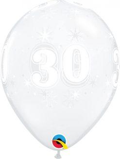 "11"" / 28cm 30 Sparkle-A-Round Diamond Clear Qualatex #50188-1"