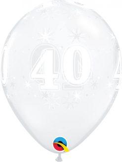 "11"" / 28cm 40 Sparkle-A-Round Diamond Clear Qualatex #50190-1"