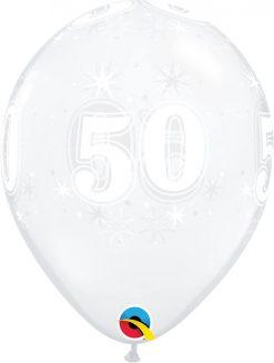 "11"" / 28cm 50 Sparkle-A-Round Diamond Clear Qualatex #50194-1"