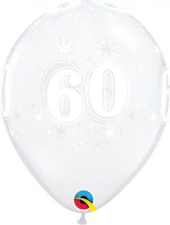 "11"" / 28cm 60 Sparkle-A-Round Diamond Clear Qualatex #50197-1"