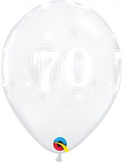 "11"" / 28cm 70 Sparkle-A-Round Diamond Clear Qualatex #50198-1"