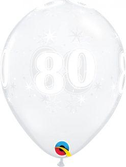 "11"" / 28cm 80 Sparkle-A-Round Diamond Clear Qualatex #50199-1"