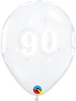 "11"" / 28cm 90 Sparkle-A-Round Diamond Clear Qualatex #50201-1"