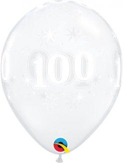 "11"" / 28cm 100 Sparkle-A-Round Diamond Clear Qualatex #50203-1"
