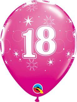 "11"" / 28cm 6szt 18 Sparkle-A-Round Wild Berry Qualatex #53445"