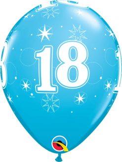 "11"" / 28cm 6szt 18 Sparkle-A-Round Robin's Egg Blue Qualatex #53447"