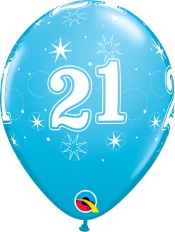 "11"" / 28cm 6szt 21 Sparkle-A-Round Robin's Egg Blue Qualatex #53460"